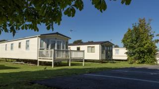 Caravans at Marlie Holiday Park in New Romney, Kent