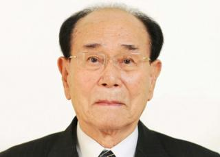 North Korean ceremonial head of state Kim Yong-nam (file image)