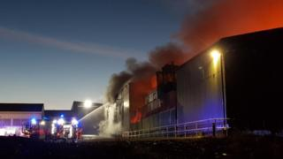 Canford Recycling Centre fire