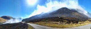 Wildfire at Glen Etive