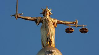 Figure of Lady Justice in London