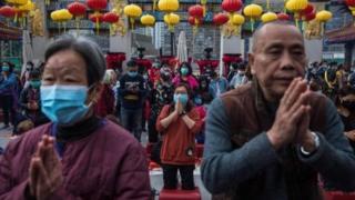 中国老人祈福