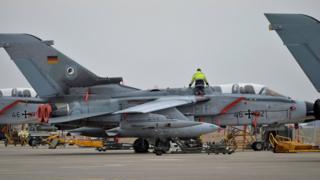A technician works on a German Tornado jet at Incirlik airbase, Turkey, January 21, 2016