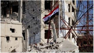 Majengo katika mji wa Deraa yaliyoathiriwa na vita