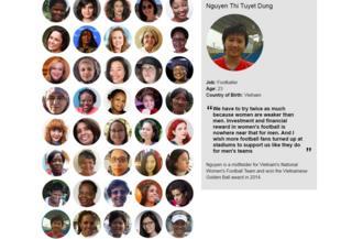 Chân dung Nguyễn Thị Tuyết Dung trên trang 100 Phụ nữ của BBC.