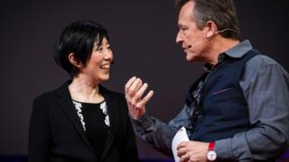 Noriko Arai and Chris Anderson