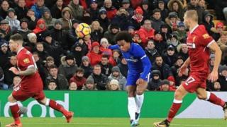 Ciyaartii dhexmartay Liverpool iyo Chelsea