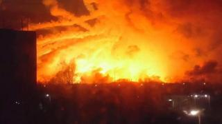 пожар на военном арсенале в Харьковской области
