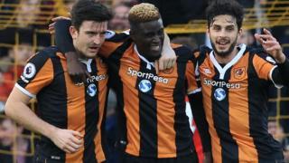 Wachezaji wa timu ya Hull City nchini Uingereza