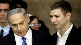 İsrail Başbakanı Benyamin Netanyahu ve oğlu Yair Netanyahu