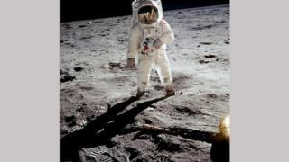 Олдрін на Місяці
