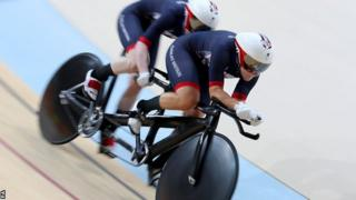 Gold medallists Sophie Thornhill and Helen Scott competing in the women's B 1,000m time trial at the Rio Paralympics.