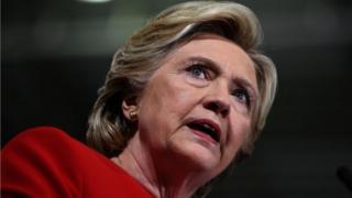 Hillary Clinton durante discurso