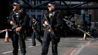 Police at the London Bridge attack