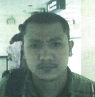 Photo handed out by Thai police 13 September 2015 shows a Bangkok bombing suspect identified by police as Abudusataer Abudureheman