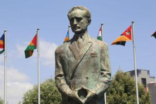 A statue of Haile Selassie is unveiled at the opening of the 32nd Ordinary Session of the African Union (AU) Summit at African Union Headquarters in Addis Ababa, Ethiopia, on 10 February 2019.