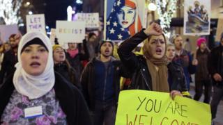 Акция протеста в Сиэттле