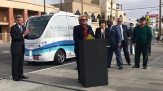 Lançamento do veículo autoguiado em Vegas