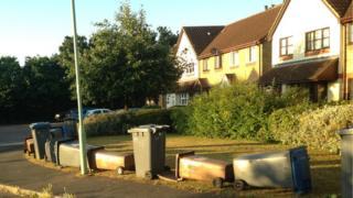 Wheelie bin blockade over traveller fears in Kesgrave