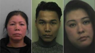 (L-R) Thu Nguyen, Viet Nguyen, Giang Tran