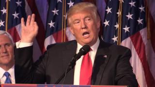 Donald Trump makes his victory speech