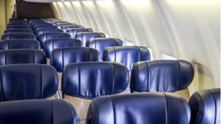 Пустой салон самолета