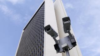 Photo of CCTV cameras in front of a building