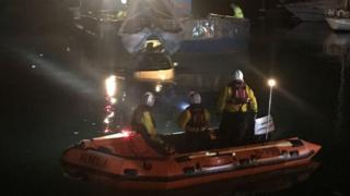 Lifeboat rescue at Poole Quay
