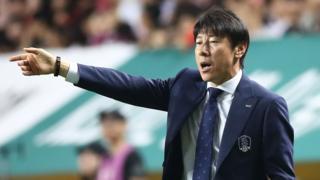 South Korea's coach Shin Tae-yong