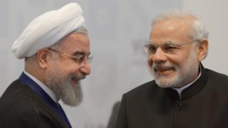 President Hassan Rouhani and Prime Minister Narendra Modi