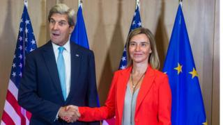 ABD Dışişleri Bakanı John Kerry ve AB Dış Politika Temsilcisi Federica Mogherini