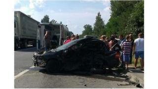 Місце аварії за участі авто Димінського