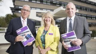 PCC Arfon Jones, Chf Con Mark Polin and his deputy Ann Griffith