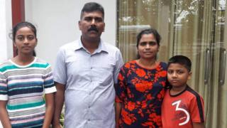 Ramesh Raju with his family