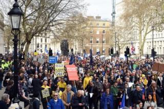 راهپیمایی مخالفان خروج بریتانیا از اتحادیه اروپا