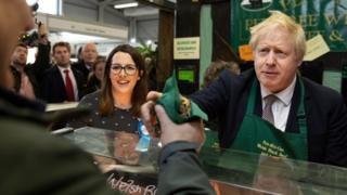 Fay Jones with Boris Johnson