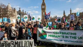 Hiện có các cuộc vận động cho quyền ở lại của công dân EU tại Anh