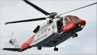 Six coastguard rescue teams and two rescue helicopters are involved in the search