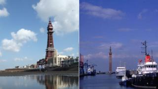 Blackpool and Grimsby