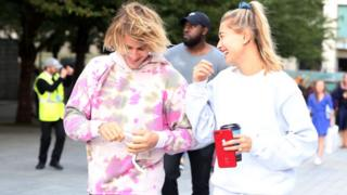 Justin Bieber and Hailey Baldwin visiting the London Eye on September 18, 2018 in London, England