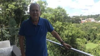 José Dirceu na casa onde recebeu a BBC, em Curitiba