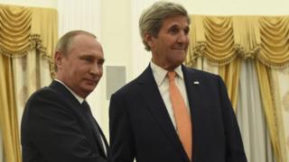 Vladimir Putin ve John Kerry