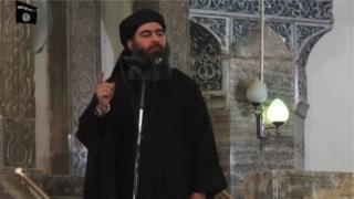 ইসলামিক স্টেট নেতা আবু বকর আল-বাগদাদি