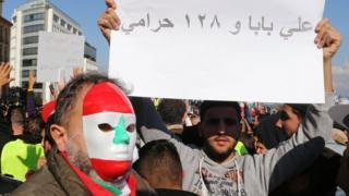 مظاهرة نظمت في بيروت الشهر الماضي للاحتجاج على الأوضاع السياسية والاقتصادية
