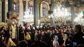 مراسم برگزاری استقلال کلیسای اردتدکس اوکراین از روسیه