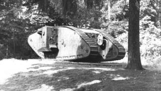 Mark I tank in Hatfield Park