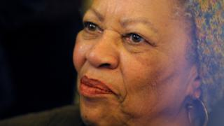 "U.S. author Toni Morrison poses after being awarded the Officer de la Legion d""Honneur, the Legion of Honour, France""s highest award"