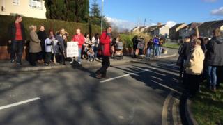 Protest Llangennech