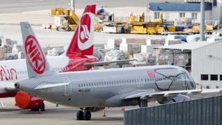 A Niki jet on the tarmac in Vienna, file pic