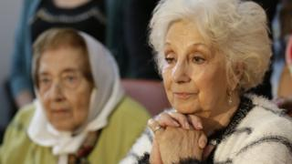 Estela de Carlotto, head of the humans rights organization Abuelas de Plaza de Mayo, Wednesday, Nov. 18, 2015.